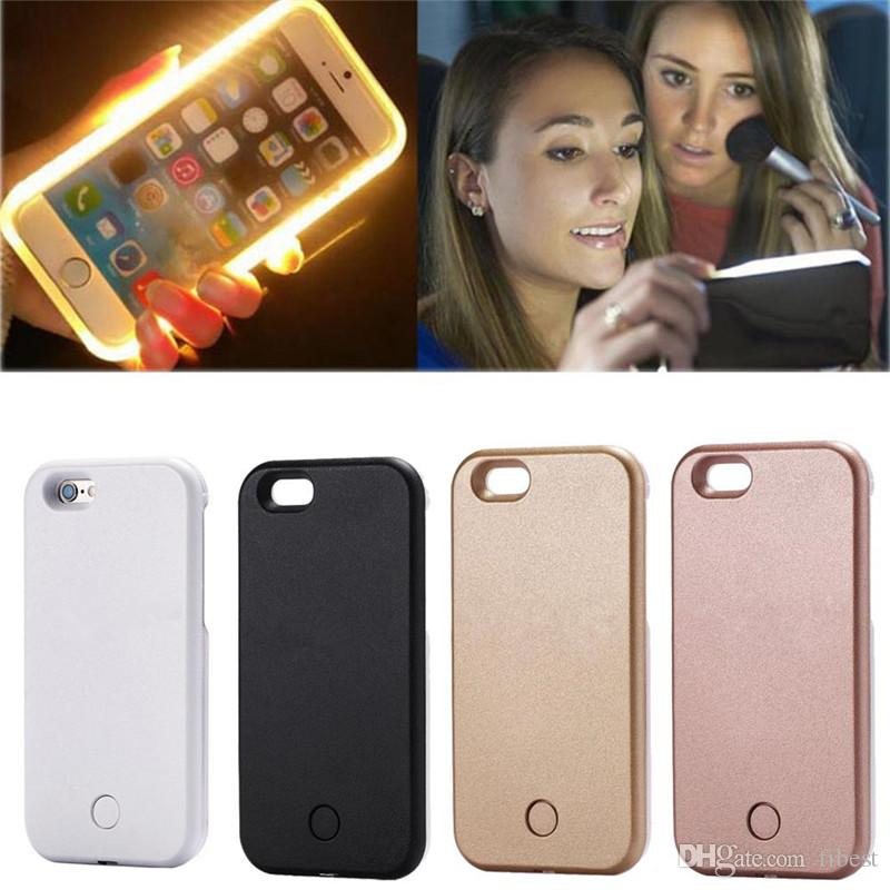 purchase cheap 58bf1 9cfac LED Phone Case For iPhone X XR 7 8 plus XS MAX Selfie Light Glow Artifact  Cases For Samsung Galaxy S6 Edge