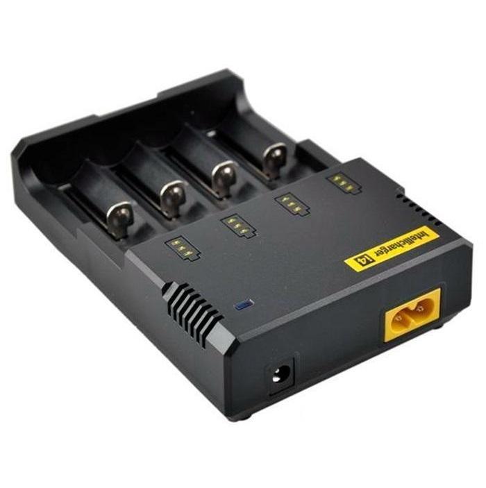 Original Nitecore I4 Carregador Universal-carregador de bateria de cigarro eletrônico para 18650 18500 26650 I2 D2 D4 bateria multi função