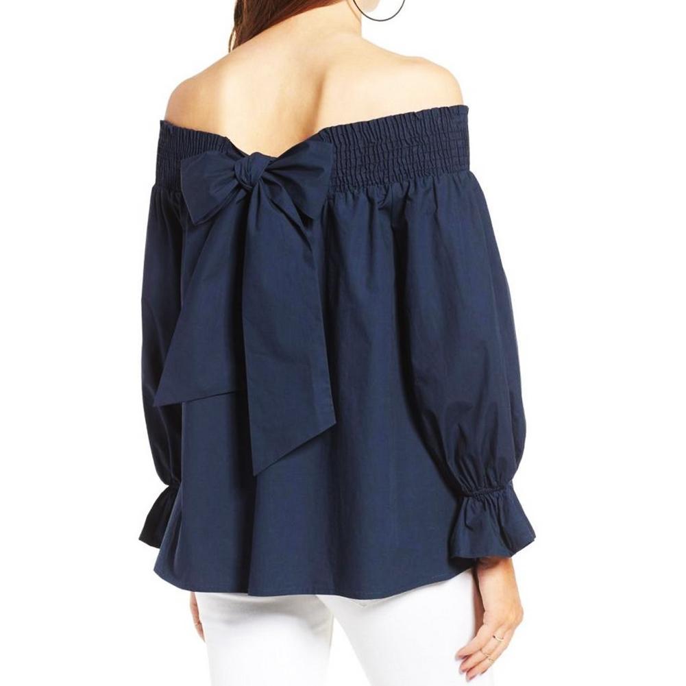 9fa7574de6d4 Купить Оптом Женская Повседневная Рубашка С Открытыми Плечами Мода ...