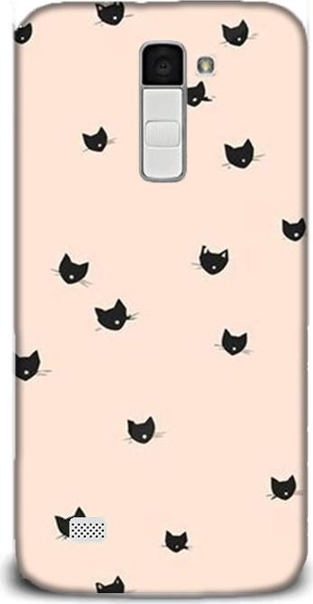 For LG dynamics c40 black cats pattern pouch case ship from turkey HB-000882583
