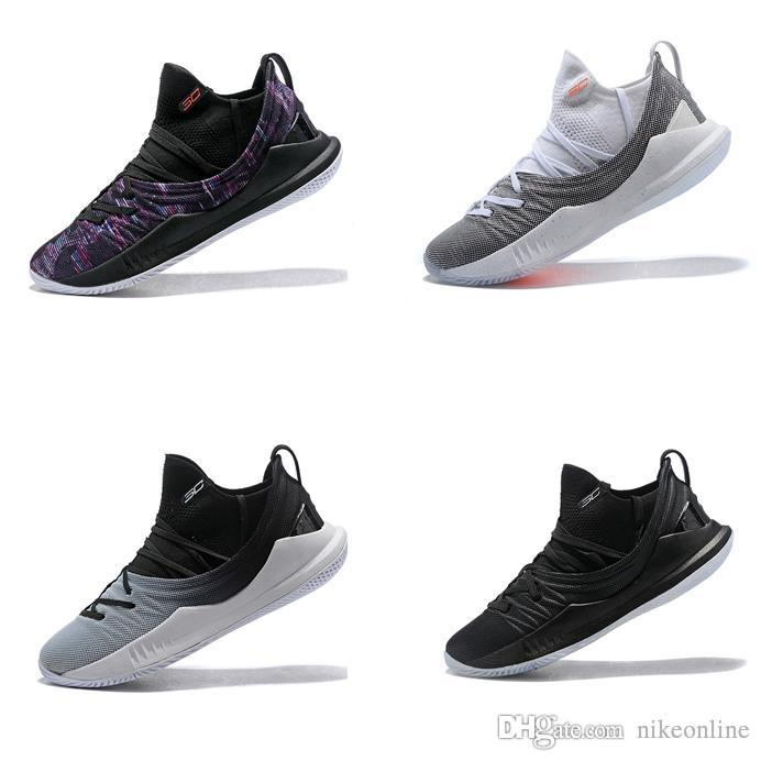 Cheap Cheap Women Curry 5 Low Cut Basketball Shoes Championship Black Gold  Youth Kids Boys Girls Air Flights Stephen Currys Sneaker Boots for Sale f23743513