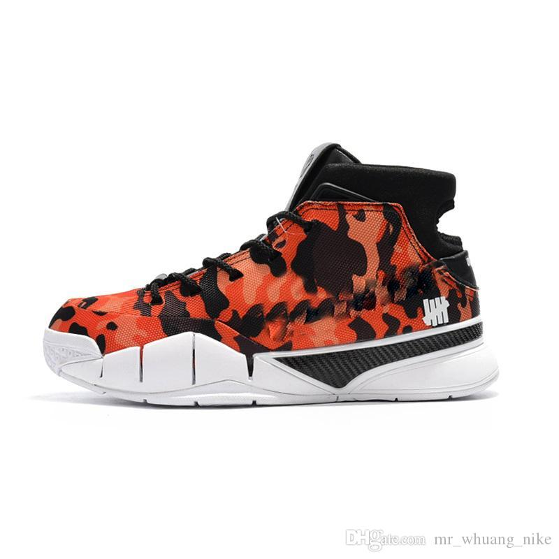 check out 910ff 589e1 2019 Cheap 2018 New Kobe 1 Protro Basketball Shoes X Undefeated Devin  Booker Camo Red Flame Zoom Air KB ZK1 Sneakers For Men With Original Box  From ...