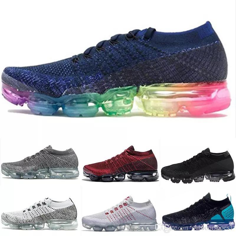 nike air max airmax vapormax Flyknit 2.0 2018 Nouvelles couleurs Fly 1.0 Fluorescence Sports Chaussures de course pour Haute qualité 2 Retro Designer