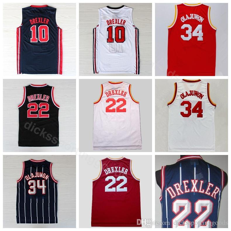 c6bbd2f75 College Men Sale 34 Hakeem Olajuwon Jersey 1992 USA Dream Team One ...