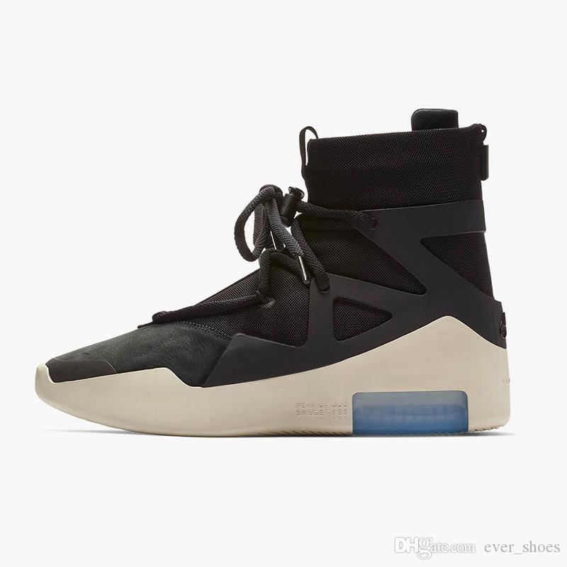 50d4d41a1f4 New Air Fear of God 1 High Tops Boots Fashion Designer Luxury Boots ...