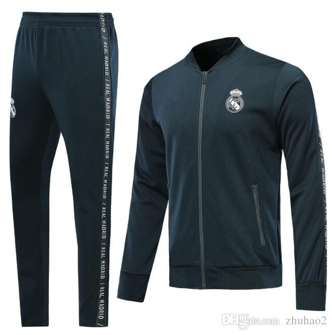 separation shoes 53f89 c542f 19-20 Real Madrid Tracksuit JAMES BALE RAMOS ISCO Jacket Football Training  suit white Marcelo Vieira Camiseta de fútbol With letter