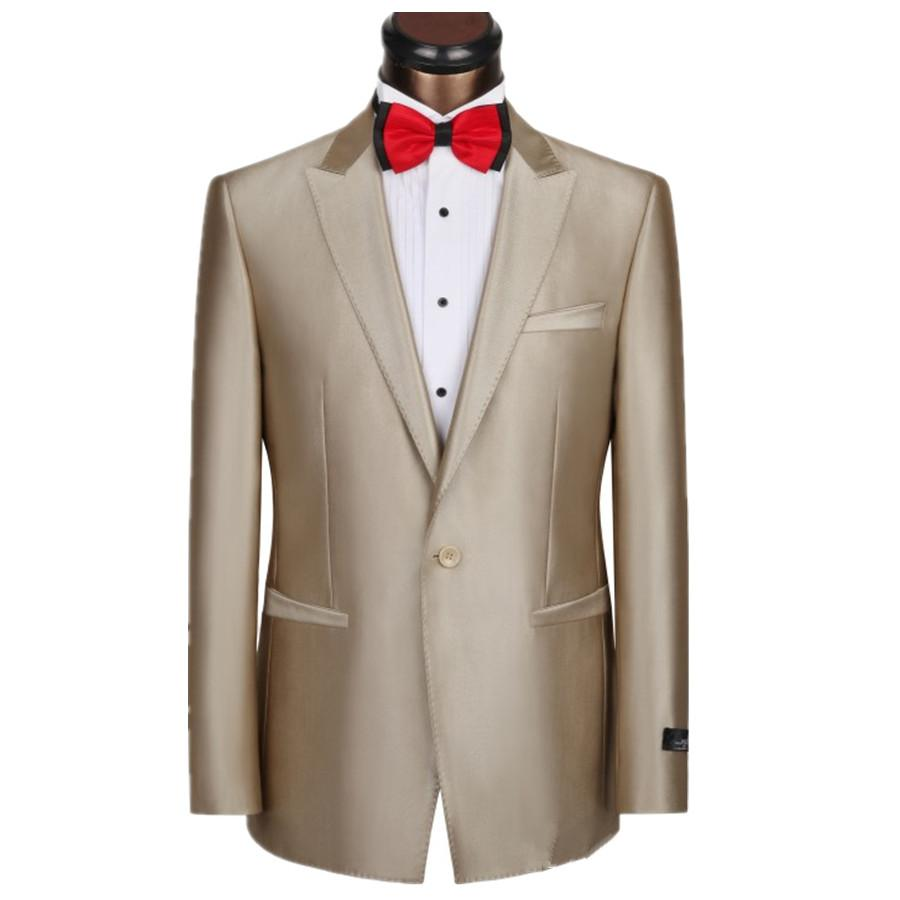2019 Homme Best Seller Suits Jackets Groomsman Champagne Type Bridegroom Jacket Mens Tuxedo Men Suit Slim Coat Custom Made
