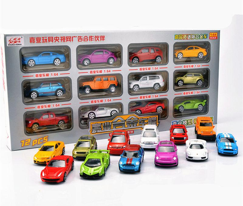 [TOP] 12pcs/set Alloy Luxury Mini car model Fire truck helicopter super car  sportscar SUV vehicle Collection model kids gift