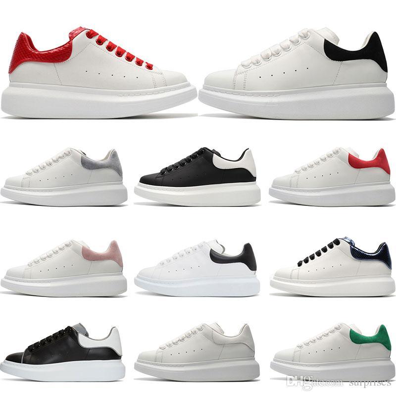 3a0d502eb80d49 Acquista 2019 Designer Luxury Brand Scarpe Casual In Pelle Bianca Ragazza  Donna Oro Nero Rosso Moda Comoda Sneakers Piatte Taglia 35 43 A $71.07 Dal  ...