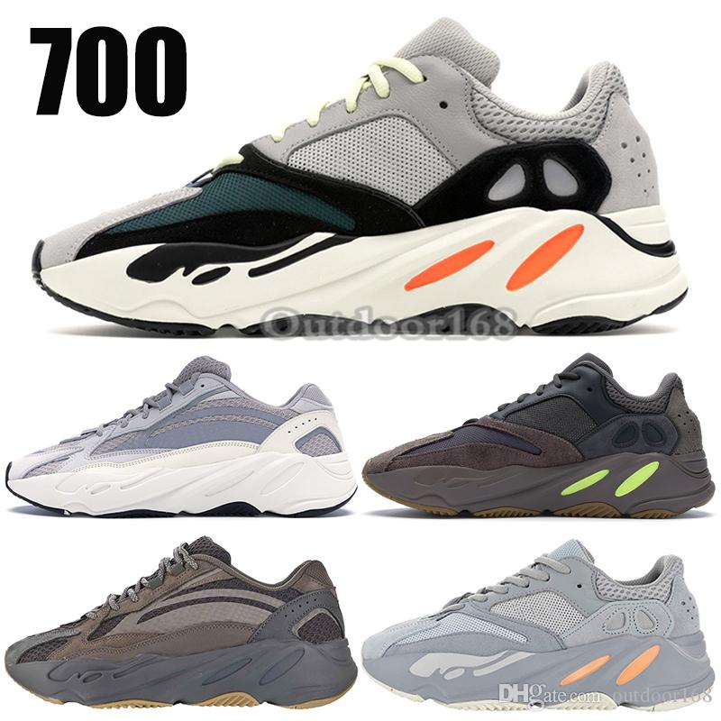 los angeles 80246 21592 Adidas Yeezy 700 Wave Runner Mauve EE9614 Con Caja Kanye West Designer Men  Seankers Nuevo Top 700 V2 Static Sports Running Shoes Tamaño 36 45 Por  Outdoor168 ...