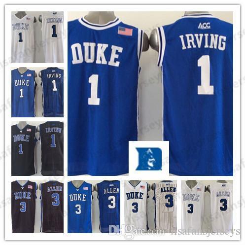 newest efa23 45330 1 Kyrie Irving 3 Garyson Allen Duke Blue Devils basketball jerseys Irving  Allen white blue black Stitched College Basketball Jerseys