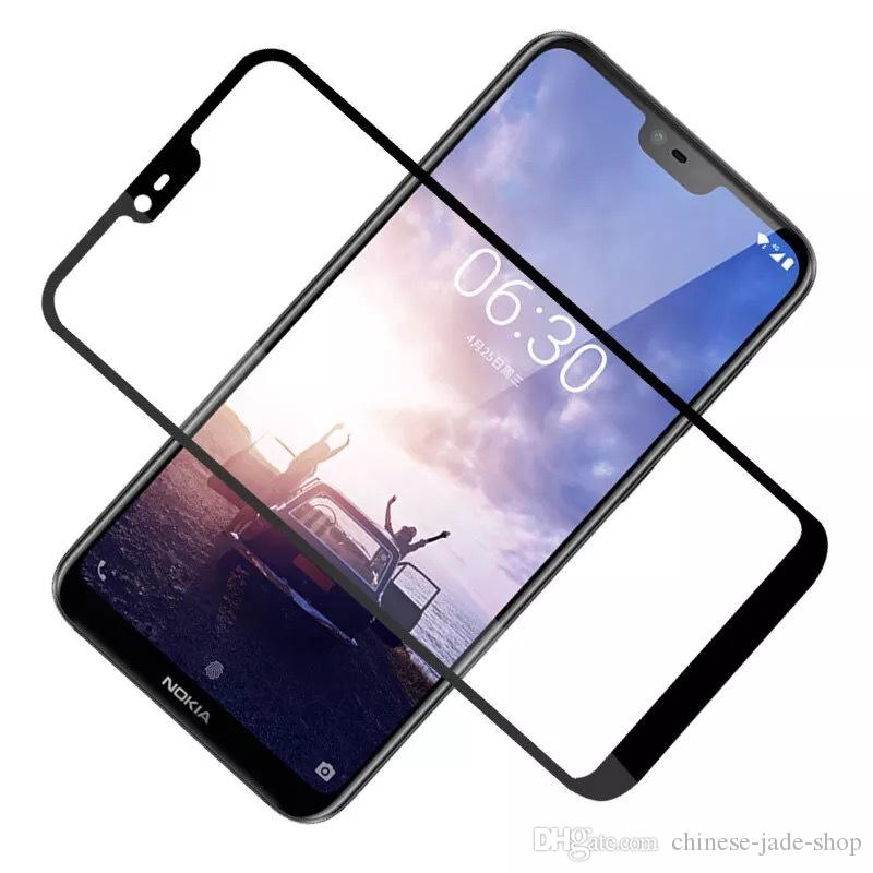 For Nokia 2 3 5 6 8 6 2018 2.1 3.1 5.1 6.1 7 PLUS 9H Full Cover Colorful Tempered Glass Screen Protector Glue Explosion 600pcs/lot