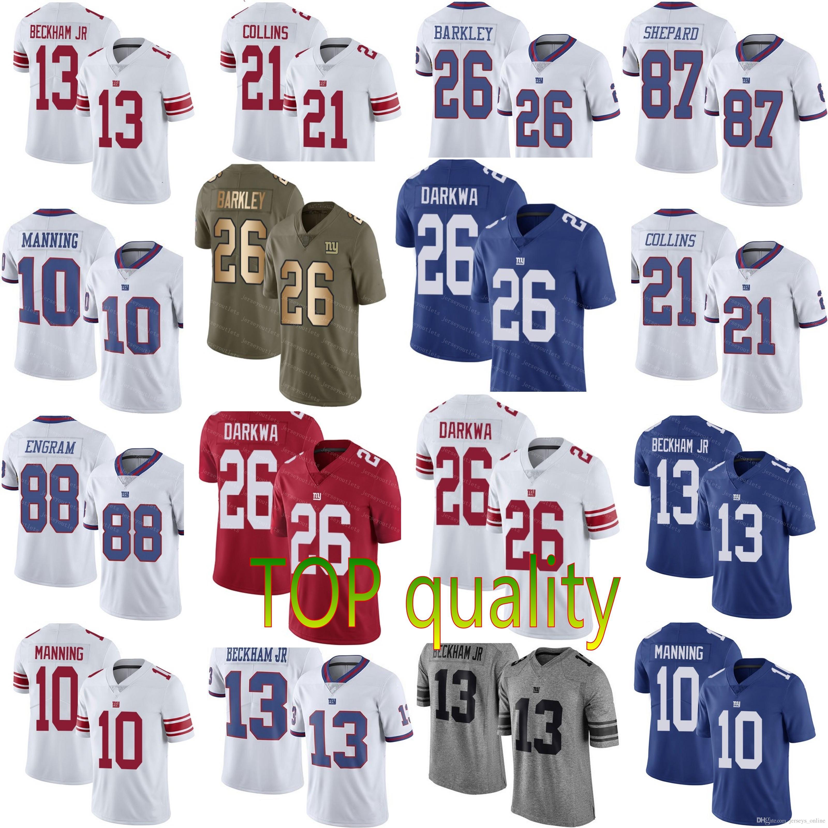 2019 2019 Mens New York 26 Saquon Barkley 13 Odell Beckham Jr Giants 10 Eli  Manning 21 Landon Collins Jerseys Cheap Size S 3XL From Jerseys online 2755fa90e