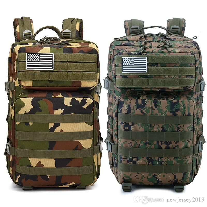 39c47f388230 2019 45L Molle Camo Tactical Backpack Hunting Hiking Military Army Mochila Waterproof  Rucksack Backpack Tourist Outdoor Sport Bags  234462 From ...