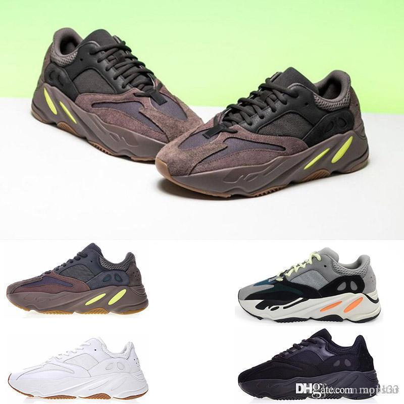 Nuevo 700 Runner Kanye West Mauve Wave Hombre Mujer Zapatillas Negro Blanco Marrón Zapatillas deportivas 700s Zapatillas deportivas 40 46 EUR al por
