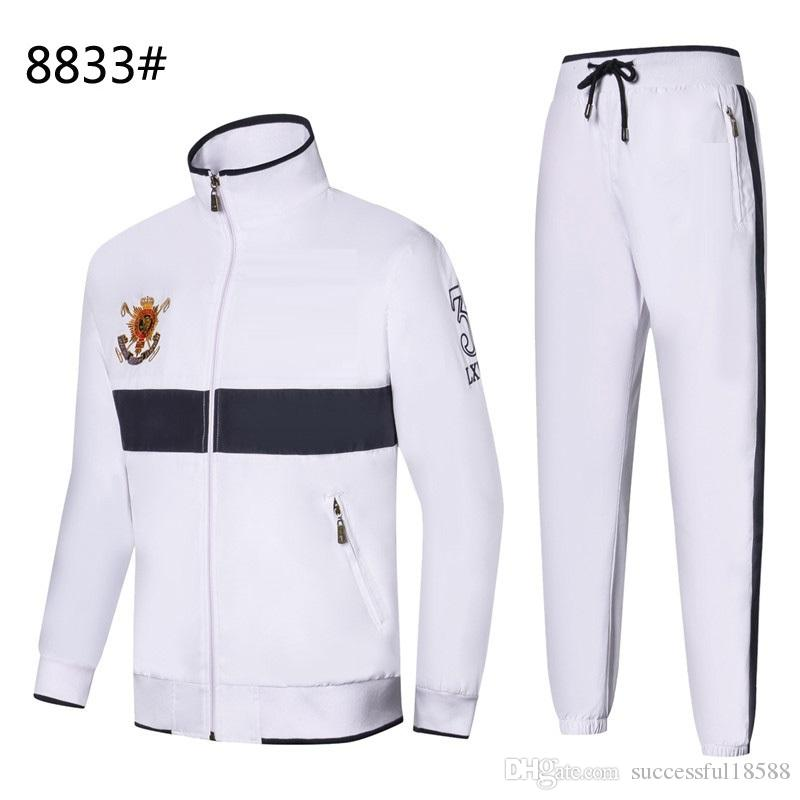 2019 Hot sell Mens Hoodies and Sweatshirts Sportswear Man Polo Jacket pants Jogging Suits Sweat Suits Mens Tracksuits #6623