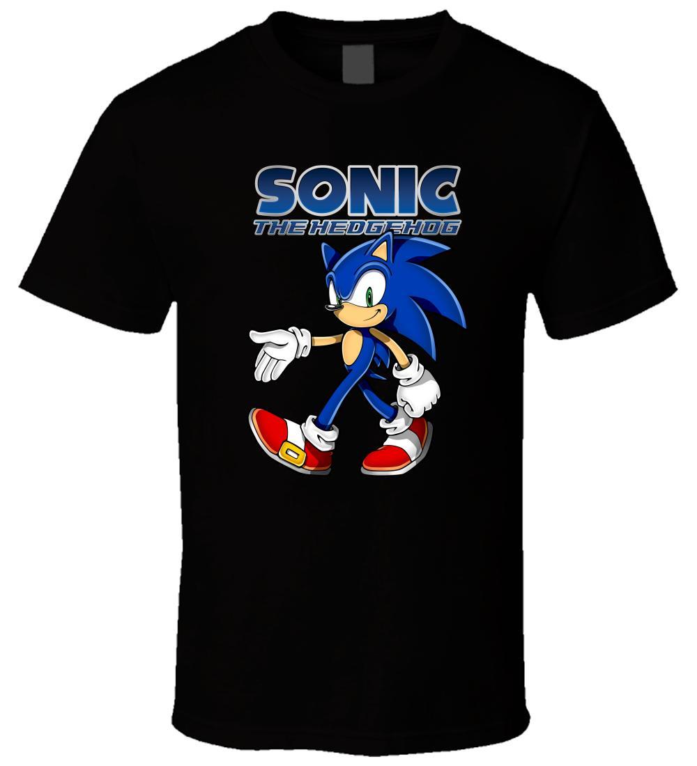 fe43d5eb Sonic The Hedgehog 6 Black T Shirt Men Women Unisex Fashion Tshirt Black  Awesome T Shirts For Men T Shirts Shopping Online From Customtshirt201810,  ...