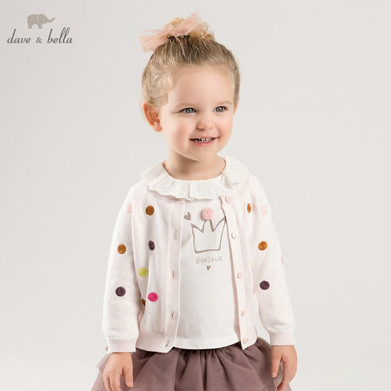 03e611b9c0c27 DB10149 Dave Bella Spring Infant Baby Girls Fashion Pink Cardigan Kids  Toddler Coat Children Boutique Knitted Sweater Free Knitting Patterns For  Boys ...