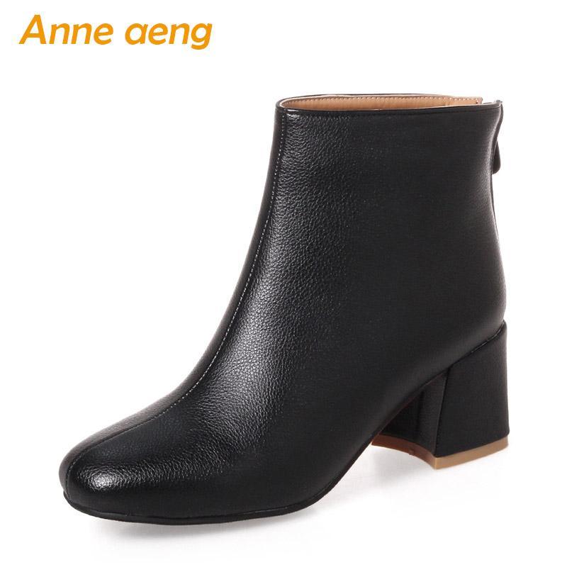 Femmes: chaussures Women boots combat grande taille Cuir Verni Talon Bloc à Lacets Hiver Chaussures