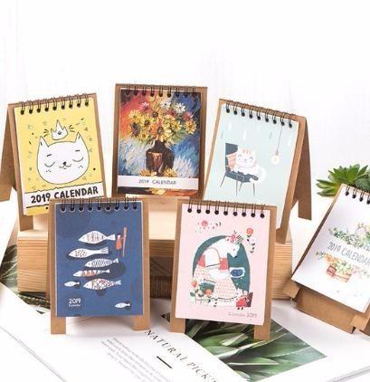 Dedicated 2019 Calendar Cartoon Characters Desktop Paper Calendar Dual Daily Scheduler Table Planner Yearly Agenda Organizer Calendar Office & School Supplies