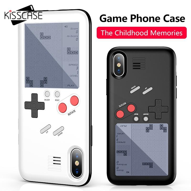 release date: 704c5 77601 KISSCASE Tetris Game Machine Phone Case For iPhone X 6 6S Plus Cover Black  Retro Game Console Case For iPhone 7 8 Plus X Capinha