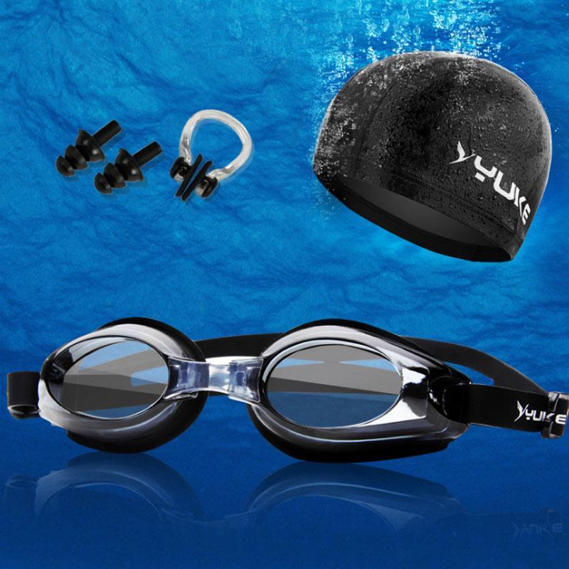 5baaa0405532 Acquista Unsex Professionale Nuoto Tute Protezione Orecchio Cuffia +  Antifog Occhiali Da Immersione Con Prescrizione + Tappi Le Orecchie Naso  Clip M23 A ...