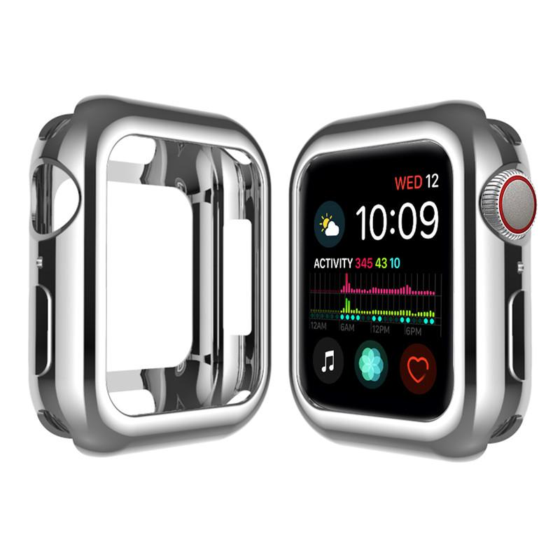 the latest b17db ead5e iWatch Case,TPU Protective Bumper Case For Apple Watch Series 4 40mm 44mm
