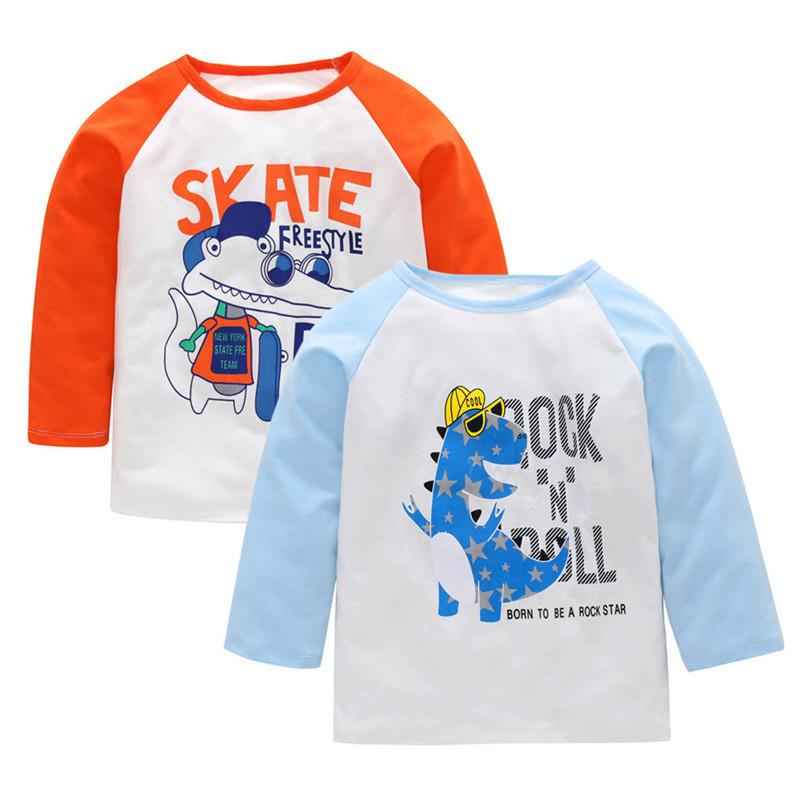 cc0ebc77d7 2019 Baby Clothes Baby Boys Tops And Tees Kids Baby Boys Girls Long Sleeve  Cartoon Animal Letter Printed T Shirt Top Clothes JY30 From Westbit11