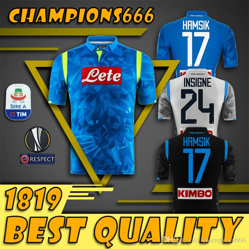 2018 2019 Serie A Naples New Napoli Camisetas De Fútbol De Local Camisetas  Azules De Fútbol De Napoli Camiseta De Hombre 18 19 HAMSIK L.INSIGNE PLAYER  Por ... 3b69ca3991cf9