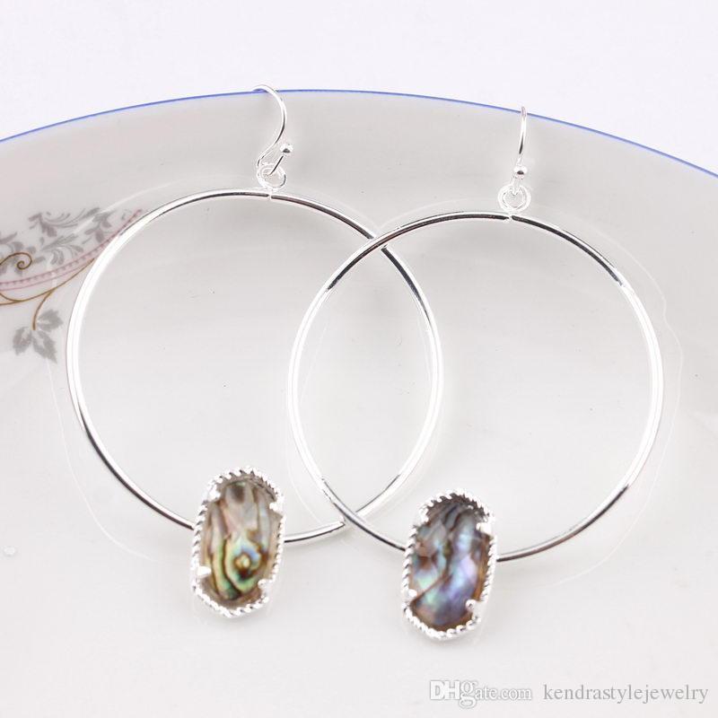 9b6e5a04e 2019 Abalone Shell Faux Copper Circle Oval Druzy Quartze Hoop Earings Fashion  Jewelry Cute Multicolor Oval Hoop Earrings Kendra Style From ...