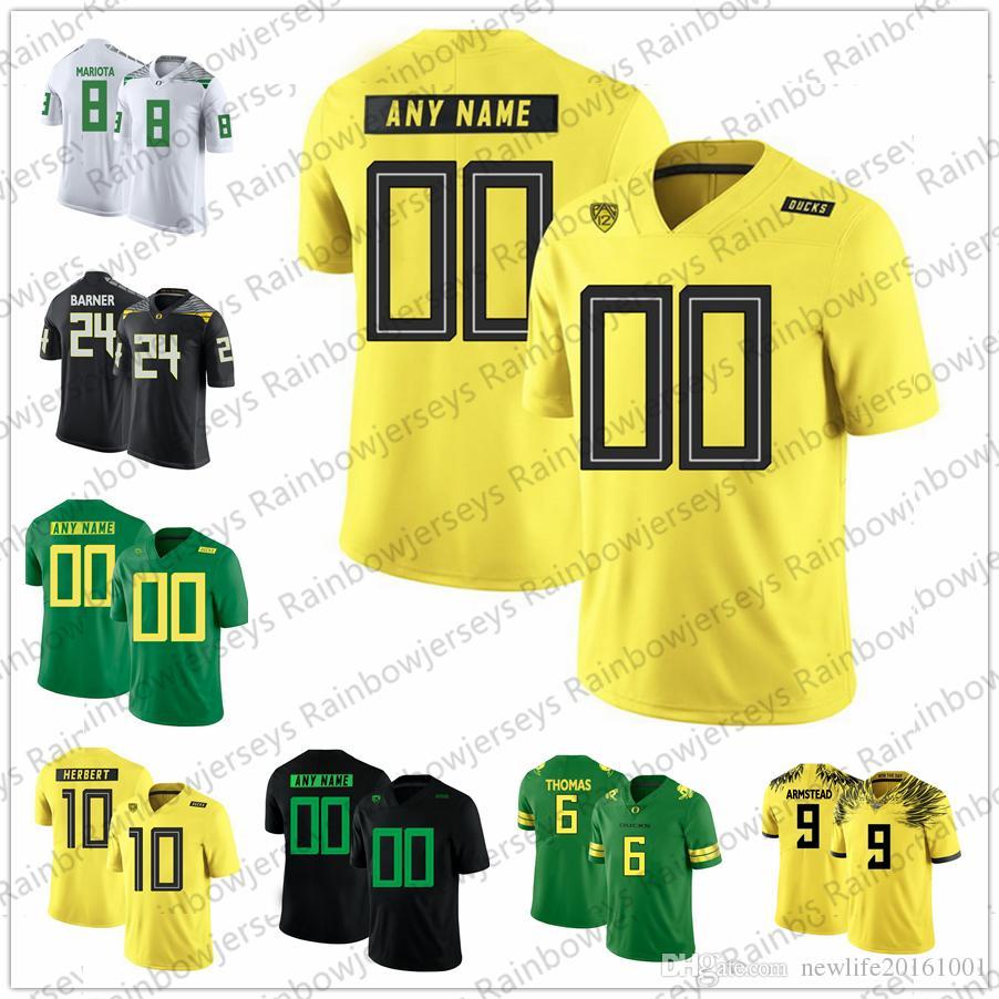 1e6df847109 2019 NCAA Oregon Ducks Custom  6 DeAnthony Thomas 21 Royce Freeman 8 Marcus  Mariota 9 LeGarrette Blount 24 Kenjon Barner College Football Jerseys From  ...