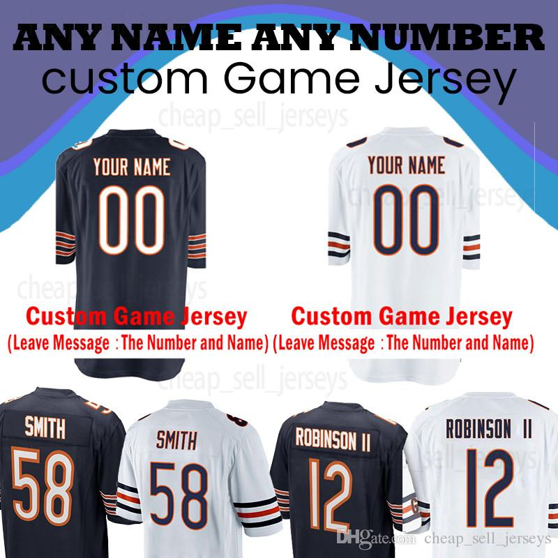 reputable site 7d9ec c129a Customized Chicago bears Jersey 10 Mitchell Trubisky 54 Brian Urlacher 34  Walter Payton 52 Khalil Mack 17 nthony Miller