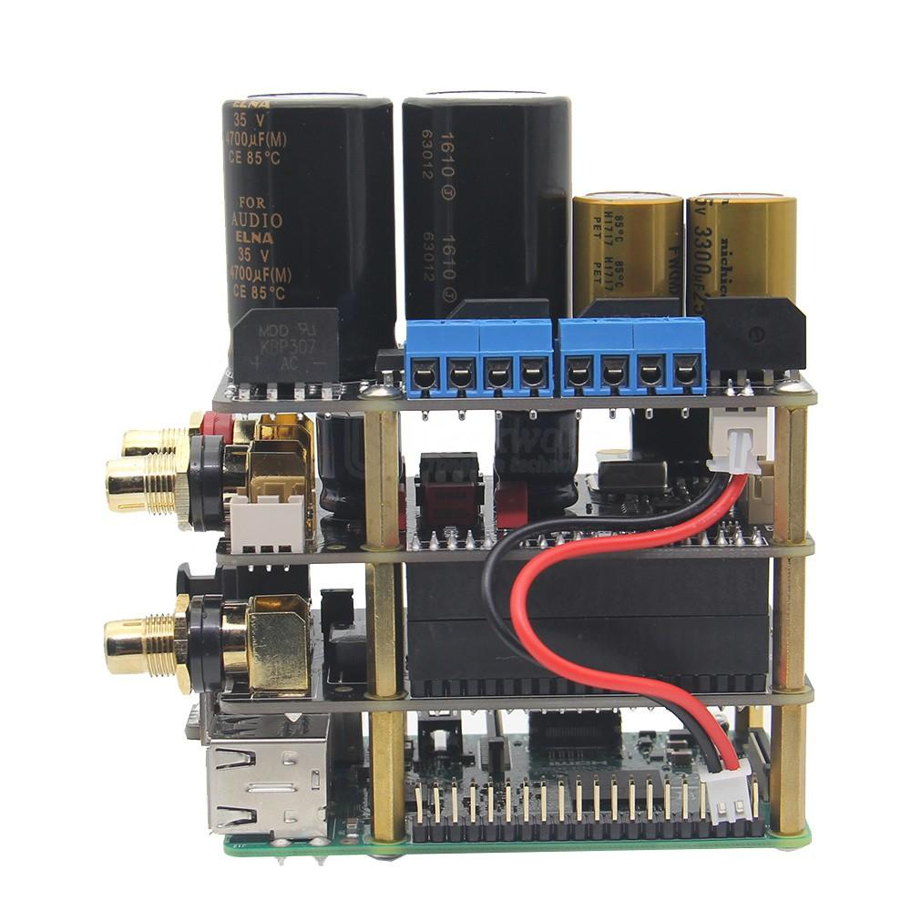 Freeshiping Raspberry Pi X20 Hifi Audio Kit (X20 ES9028Q2M DAC Board/  X10-I2S Board/ X10-PWR Power Supply Board/ X10-HPAMP Amplifier(KitB) )