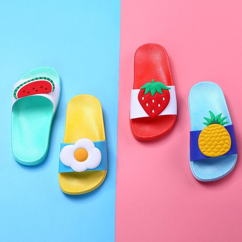 c78562971e Baby Kids Girls Boys Girls Slippers Toddler Water Children Flip Flops  Barefoot Child Fruit Shoes Swimming Summer For Kids Baby Slipper Socks  Toddler Kids ...