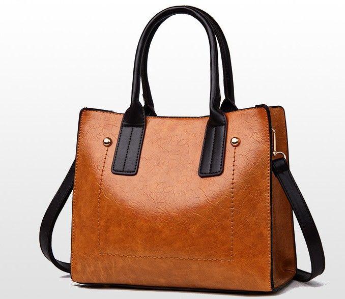 Women Bag Designer 2019 Big Ladies Hand Bag For Women Solid Shoulder Bag  Outlet Europe Leather Handbag 26 11 21cm Satchel Handbags Ladies Purses From  ... e17163aa21