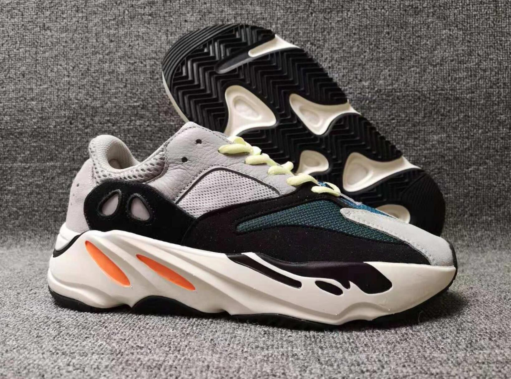 super popular cb587 67333 700 Wave Runner womens sanQuality Real Womens Mens Shoes Design By Kanye  West Season 700s Sneakers size 36-46 Christmas gift