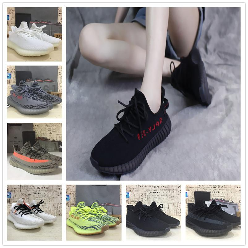 69b5b65562acc 2019 2019 BOOST 350 V2Black Running Shoes Beluga 2.0 Static Yellow Zebra  Cream White With Box West Designer Shoes Youth Children Sport Sneakers From  ...