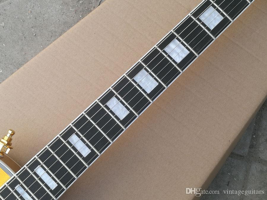 модернизировал качество электрической гитары золота на заказ гитары черное дерево грифа