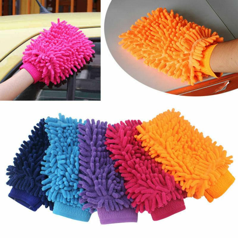 Double Sided Car Washing Glove Microfiber Hand Towel Cleaning Sponge Hand Towel Coral Chenille Soft Vehicle Auto Car Accessories DHL