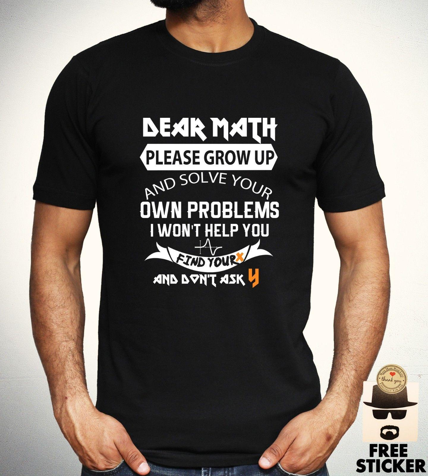 082181281 Funny Math Problem T Shirt School College University XY Geeky Joke Gift Top  Mens Funny T Shirts Online Hilarious T Shirts From Oldshop77, $11.48|  DHgate.Com