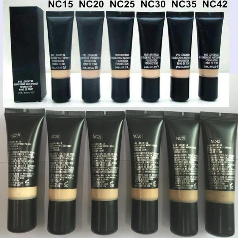 Brands Liquid Foundation Makeup Pro Longwear Nourishing Waterproof Foundation Face Cosmetics 25ML NC Colors NC15 NC20 NC25 NC30 NC35 NC42