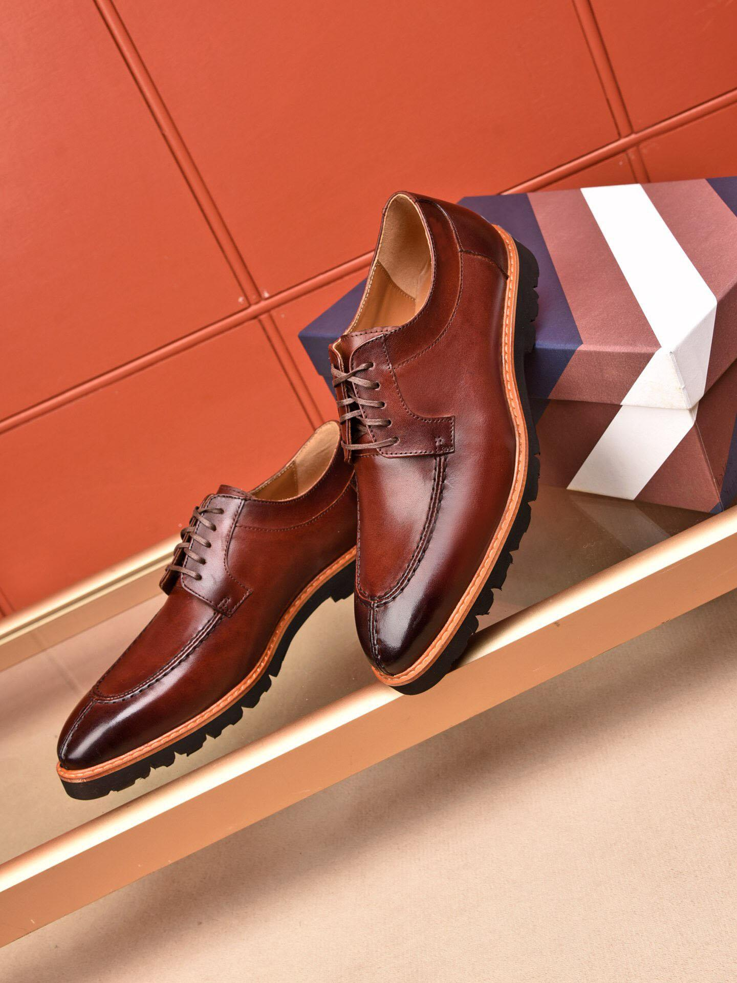 bc5c439d9d99 2019 Luxury Gentleman Party Business Loafers Brand Dress Shoes Genuine  Leather Oxfords Men s Leisure Fashion Flats Zapatos Hombre Size 38-44 Men  Oxfords ...