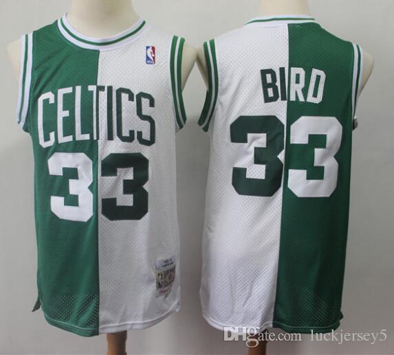 premium selection 07bd5 795e2 Mitchell & Ness Boston Larry Celtics #33 Bird Green Hardwood Classics  Authentic Throw back Jersey