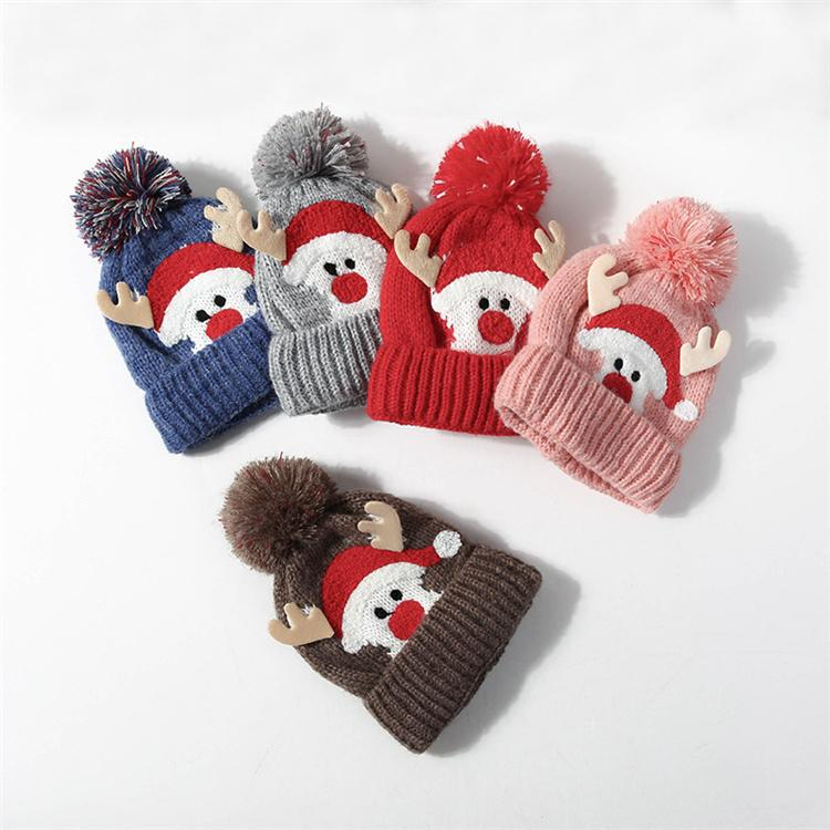 Christmas Hats.5 Styles Of Winter New Plush Wool Christmas Hats Christmas Antlers Children S Hats Winter Outdoor Warm Hats T3i5160