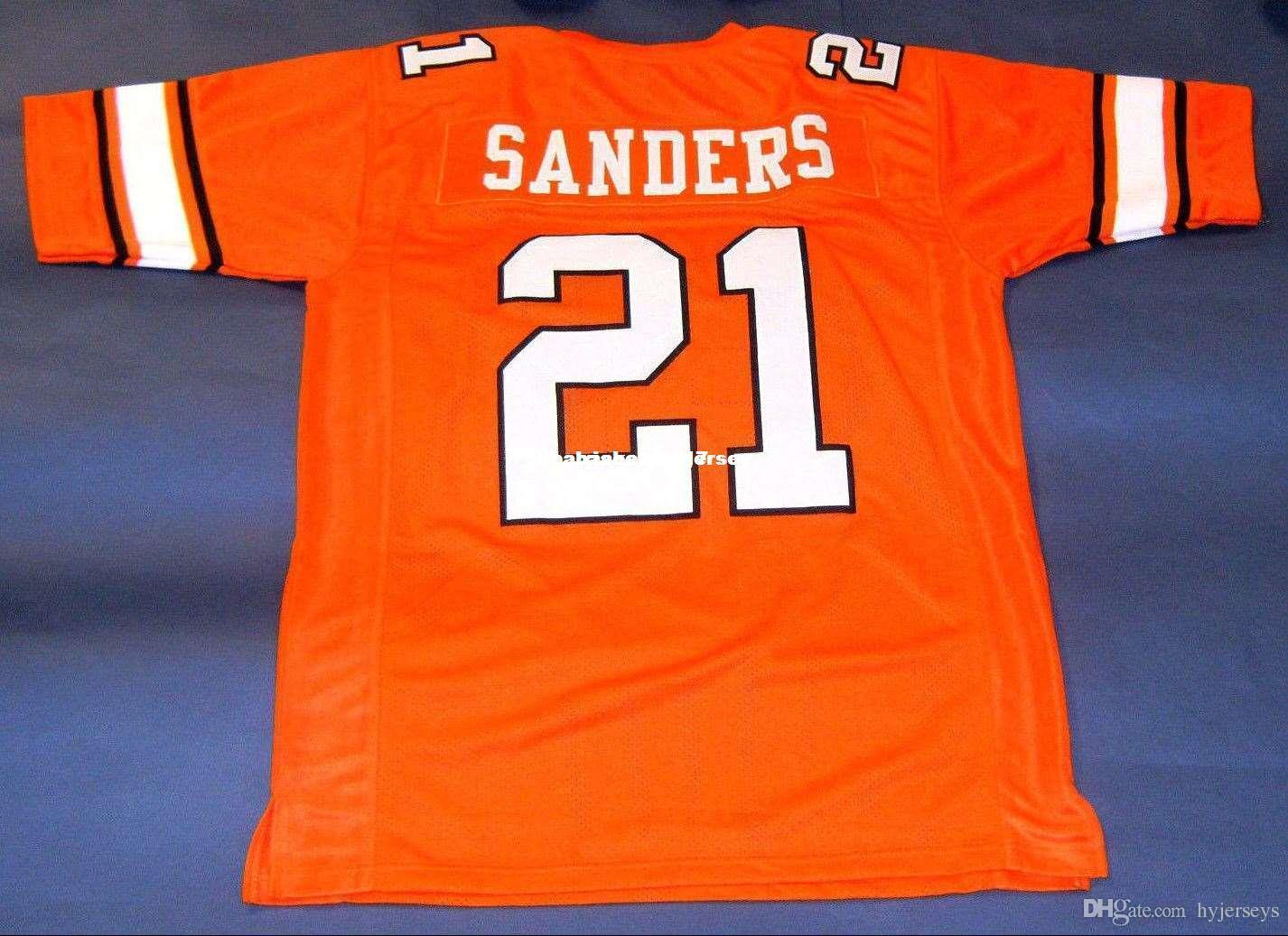 6897593da0d 2019 Cheap Retro #21 BARRY SANDERS CUSTOM OKLAHOMA STATE JERSEY OSU HEISMAN  Orange Mens Stitching Top Size S 5XL Football Jersey NCAA From Xiaocai2017,  ...
