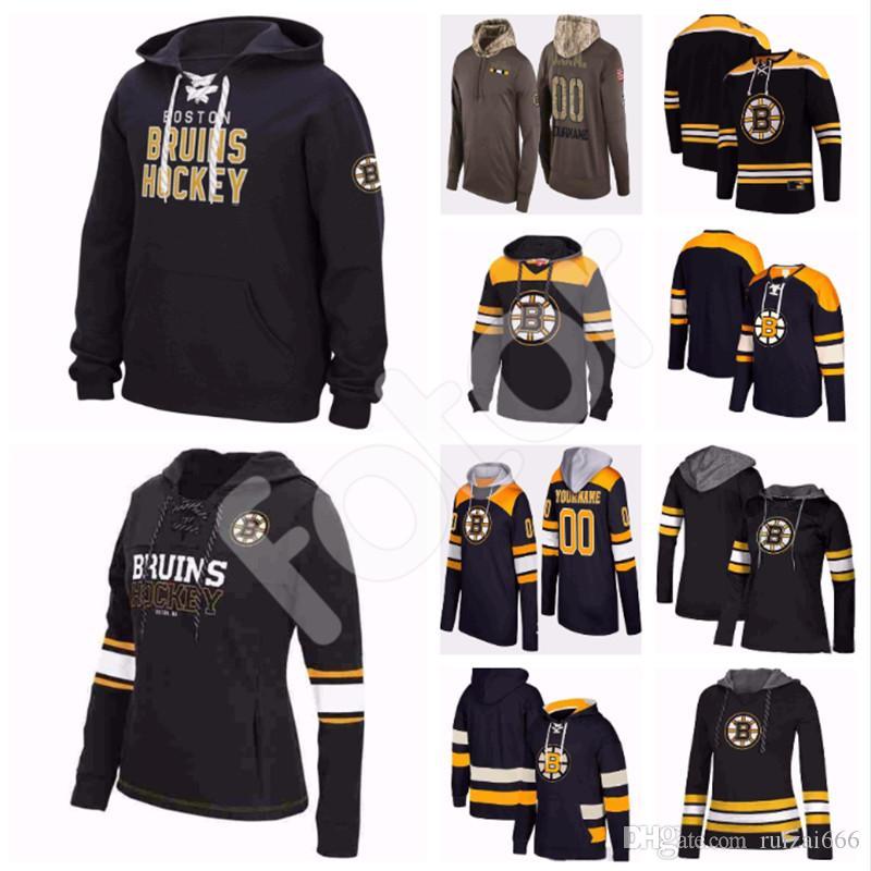 new style 74684 79952 Custom Boston Bruins Hoodies Jerseys David Pastrnak Bobby Orr Torey Krug  Cam Neely Zdeno Chara Tuukka Rask Brad Marchand Hockey Hooded Sweat