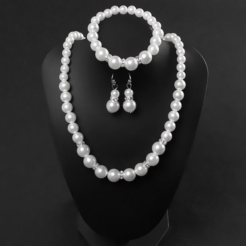 Modyle Pearl Jewelry Set For Women Natural Baroque White Stone  Choker Necklace Earrings Bracelet Party Gift
