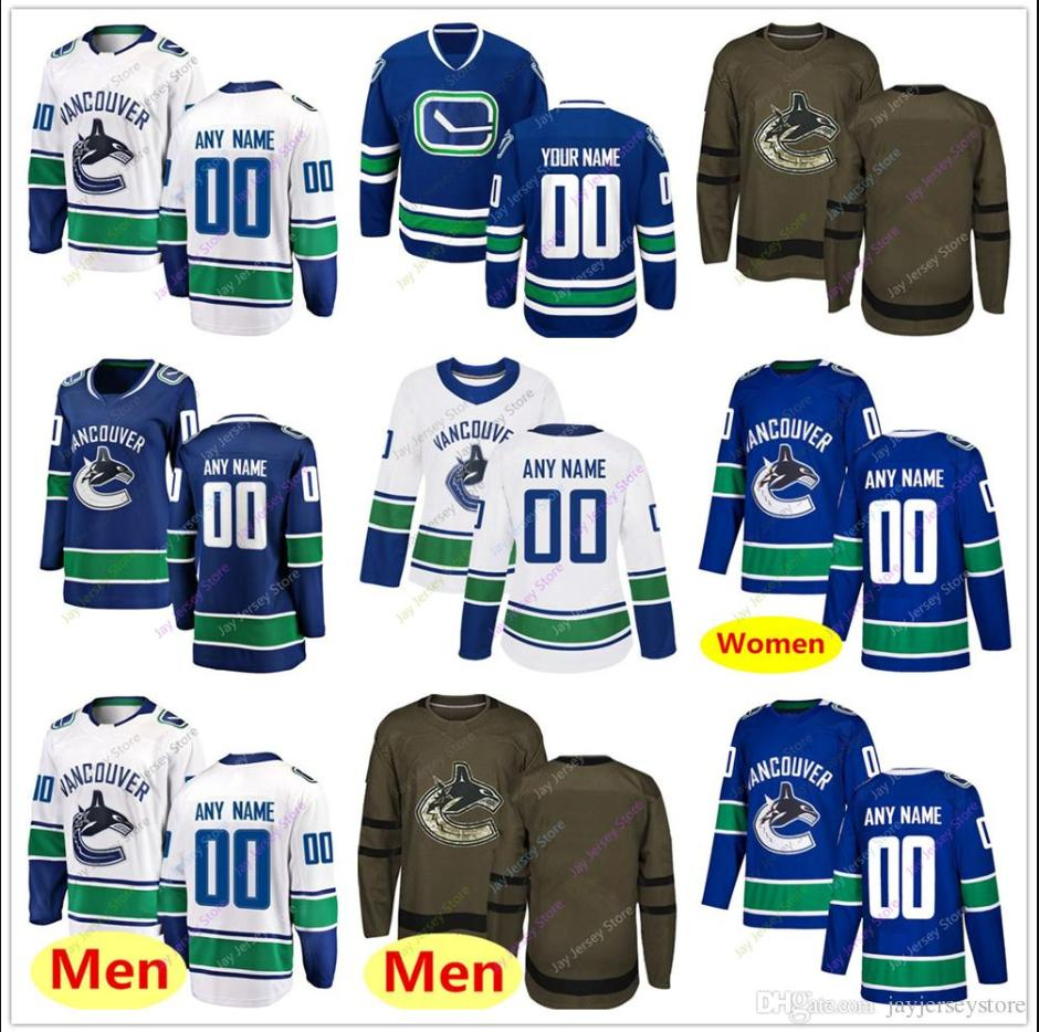 wholesale dealer b4d67 4dee2 Custom Jersey 2019 Winter Classic Vancouver Canucks Home Away New Third  Women Youth Salute To Cheap