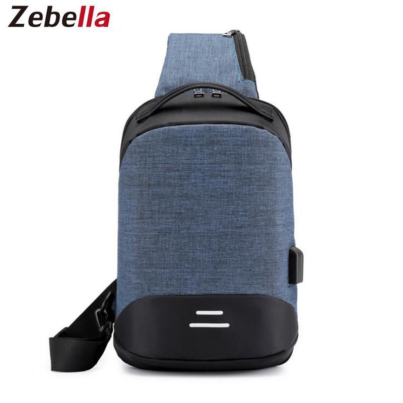 Zebella Men USB Charging Crossbody Bags Men Chest Bags Anti Theft Male Shoulder  Bag For Work Waterproof Travel Shoulder Designer Handbags On Sale Purses On  ... 36439bfeae29c