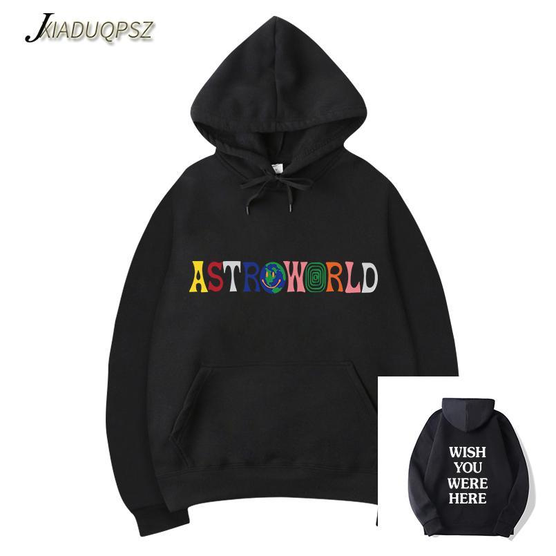 bae95bcfd29e 2019 New TRAVIS SCOTT ASTROWORLD WISH YOU WERE HERE HOODIES Fashion Letter ASTROWORLD  HOODIE Streetwear Man/Woman Pullover Sweatshirt From Aimea, ...